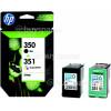 Hewlett Packard Combo-Pack Noir Et Trois Couleurs (SD412EE) D´origine No.350 Y 351