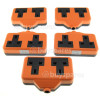 Wellco Bulk 13A Rubberised Orange Twin Trailing Socket