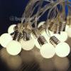 Noma 16 Warm White LED Frosted Lamp Garland