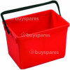 10 Litre Bucket Red Numatic