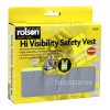 Rolson High-Visibility Safety Vest (Medium Size)