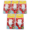 Wellco 9W BC Mini 4U Energy Saving Lamp (Warm White) - Pack Of 5