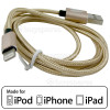 1.0m Lightning Cable - Gold