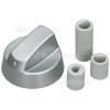 BuySpares Approved part Universal Multifit Cooker Control Knob - Silver