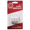 The Christmas Workshop 3W Candle Bridge Lamps - Pack Of 3