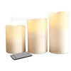 Genuine The Christmas Workshop 3 Piece Flameless LED Candles