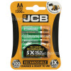 Genuine JCB AA NiMH Rechargeable Batteries