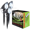 The Christmas Workshop 3 Piece White LED Kaleidoscope Projector Light Set