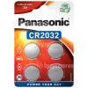 Panasonic CR 2032 Lithium, Knopfzelle - 4er Packung