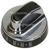 Stoves Main Oven Control Knob - Black / Chrome