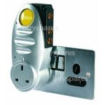 SLX Gold Plug-thru Signal Booster 2 Way - UK Plug