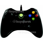 Microsoft Microsoft xbox 360 black wireless controller with pc adaptor use with xbox 360 or via pc usb