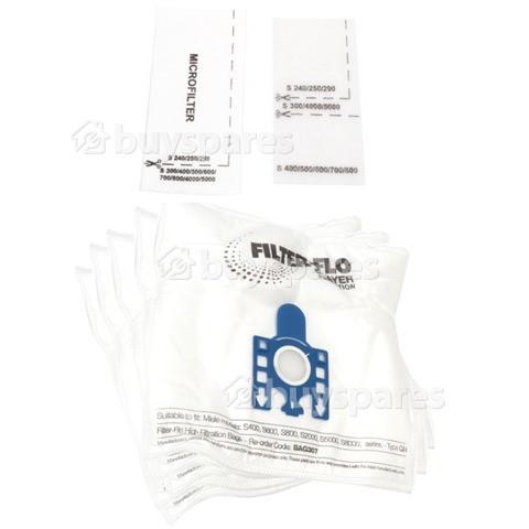 Electronic G/N Filter-Flo Synthetische Staubsaugerbeutel (5er Pack) - BAG307