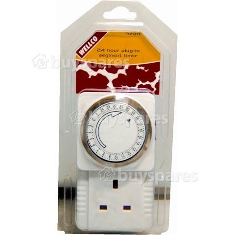 Wellco 24 Hour Plug-In Segment Timer - UK Plug