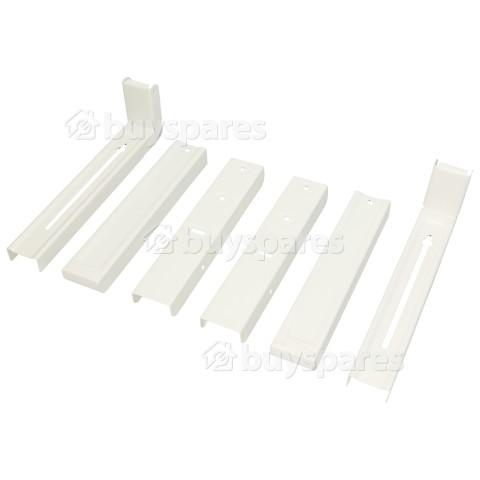 Staffe A Parete Del Forno A Microonde (1 Coppia) -bianco AVF