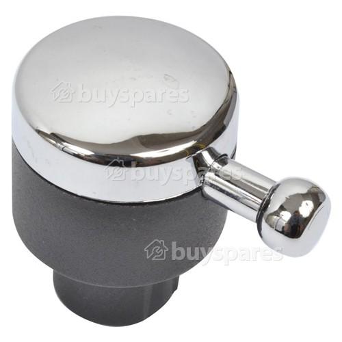 Rangemaster / Leisure / Flavel Hotplate Control Knob - Chrome / Black