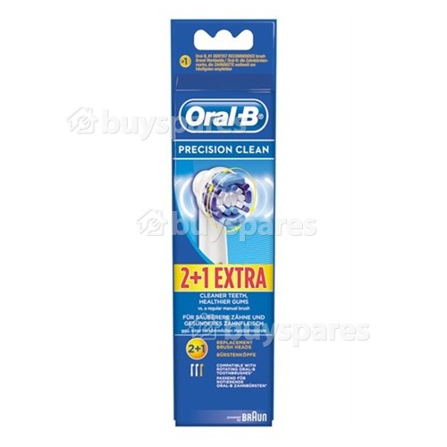 Oral B EB20-3 Precision Clean Toothbrush Heads (Pack Of 3)