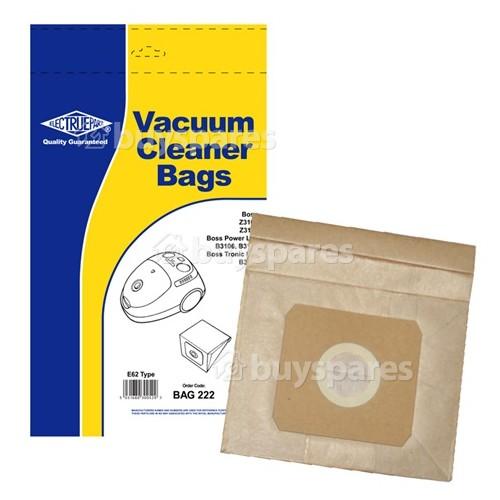 Vax E62 & U62 Dust Bag (Pack Of 5)