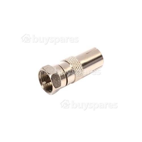 Universal F Plug To Coax Socket