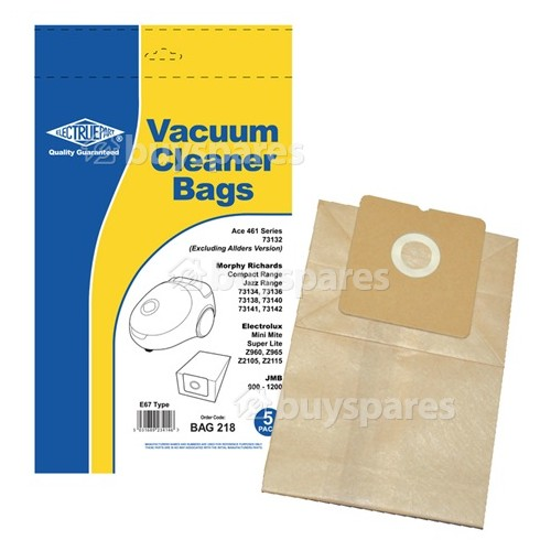 Aero E67 Dust Bag (Pack Of 5) - BAG218