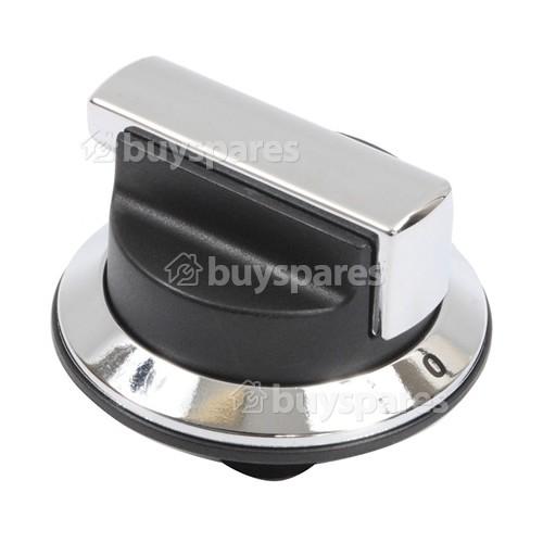 Rangemaster / Leisure / Flavel Cooker Control Knob - Black & Chrome