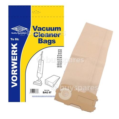 Menalux Vorwerk / Folletto / Kobold Vk Dust Bag (Pack Of 5) - BAG97