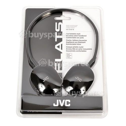 JVC HAS160 Flats Lightweight Headband Headphones - Black