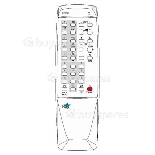 Remotes Obsolete. RC1901/HQ: Remote Conrad CTV1430/1488 Hinari CT19 Akura Emerson Tvcosd Formenti FA2125 Funai TV1400