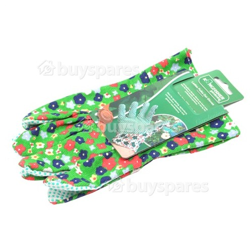 Kingfisher Ladies Polka Dot Gardening Gloves (1 Pair)