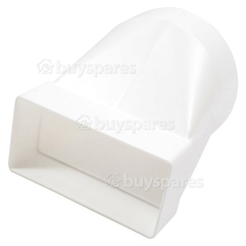 Round To Rectangular Horizontal Ducting Vent Adapter - 110MM X 54MM