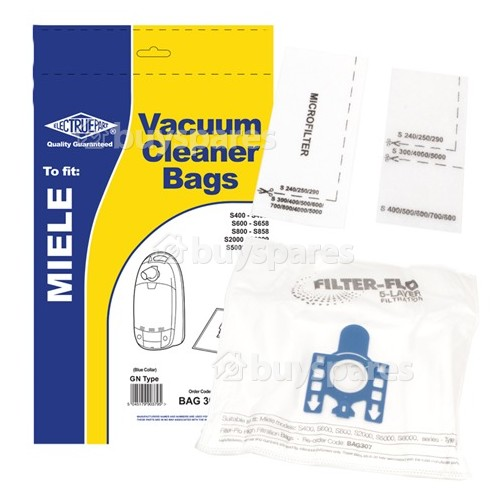 G/N Filter-Flo Synthetic Dust Bags (Pack Of 5) - BAG307