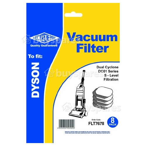 Dyson S-Level Vacuum Cleaner Filter - Pack Of 8