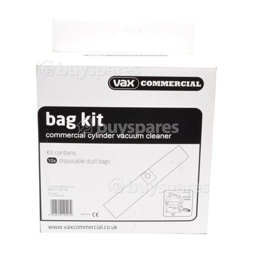 Vax Commercial High Filtration Dust Bags (Pack Of 10)