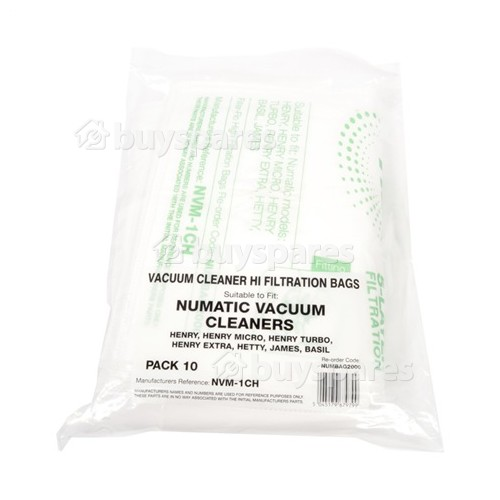 NVM-1CH Filter-Flo Synthetic Dust Bags (Pack Of 10)