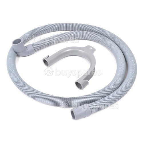 Baumatic Universal 1.5m Drain Hose (Straight To Right Angle End) - For 21/22mm Outlets
