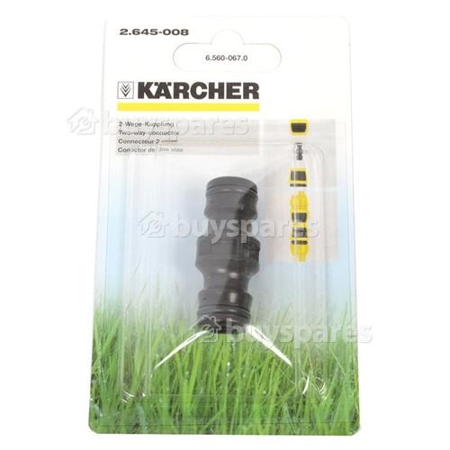 Raccord 2 Voies Pour Tuyau De Jardin Karcher