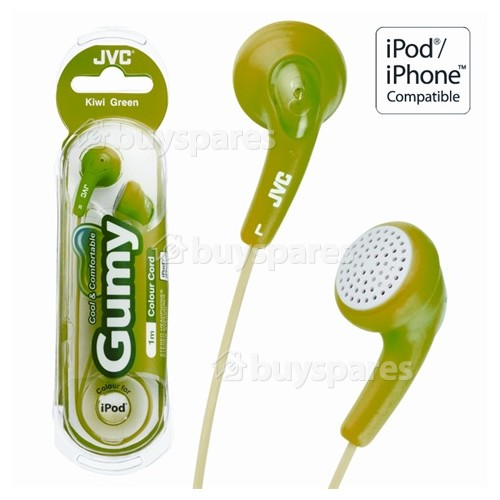 JVC HAF140 'GUMY' In-Ear Headphones - Green