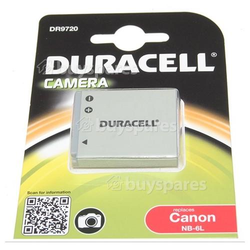 Duracell DR9720 (Canon NB-6L) Aufladbare Li-Ion Digitalkamera-Batterie