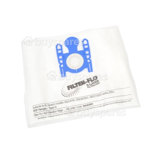 Megas Type G Filter-Flo Synthetic Dust Bags (Pack Of 5) - BAG308