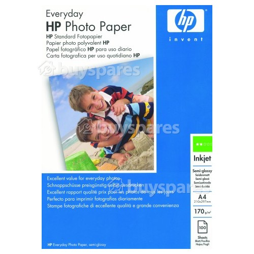 Hewlett Packard Everyday Semi-Gloss Photo Paper A4 | BuySpares