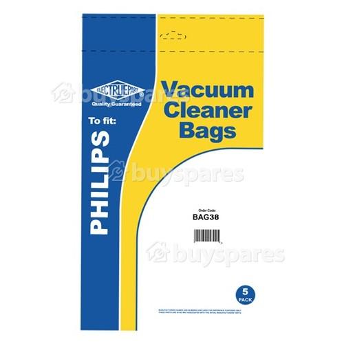 Philips 3633 Paris Dust Bag (Pack Of 5) - BAG38
