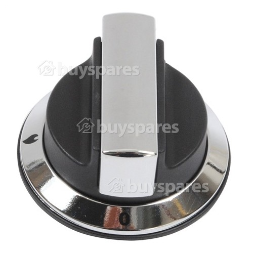 Rangemaster / Leisure / Flavel Cooker Control Knob - Black & Chrome