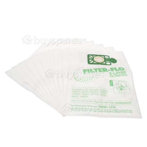 Kerstar NVM-1CH Filter-Flo Synthetic Dust Bags (Pack Of 10)