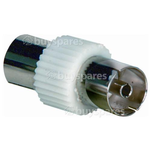 Wellco Co-axial Socket To Co-axial Socket