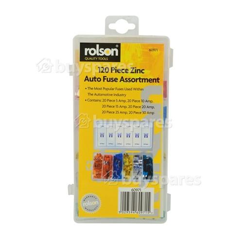 Rolson 120 Piece Assorted Automotive Fuse Kit