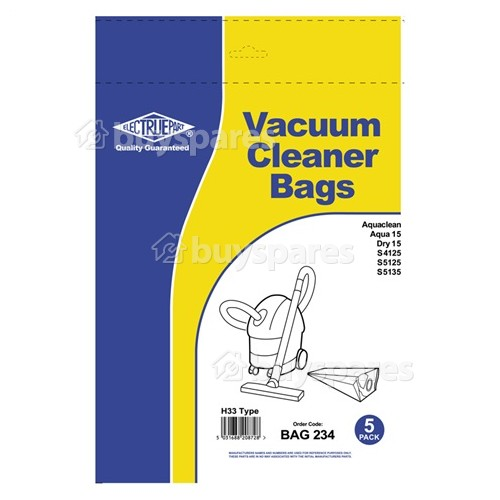 Dry 15 5 X Pack Of Vacuum Cleaner Bags For Hoover Aquaclean Aqua 15