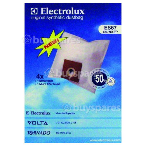 Electrolux ES67 Synthetic Paper Bag (Pack Of 4)