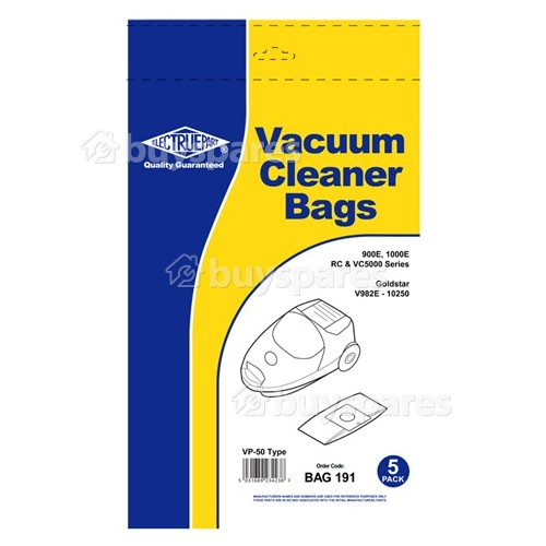 Sac Aspirateur VP50 Home-tek