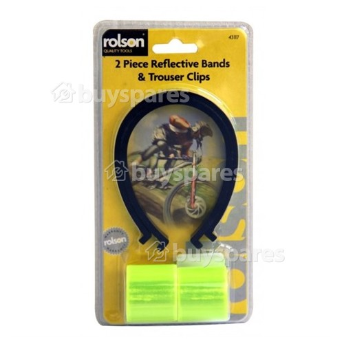 Rolson 2 Piece Reflective Arm Bands & Trouser Clips