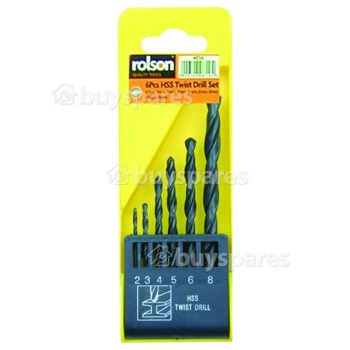 Rolson 6-teiliges HSS Bohrerset